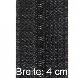 XL-Reißverschluss 4 cm breit mit zwei Schiebern, schwarz