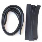 2 cm breite Lederriemen schwarz, Set für die Tasche Nepal