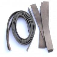 2 cm breite Lederriemen warmes grau, Set für die Tasche Nepal