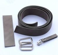 3 cm breiter Lederriemen, warmes grau, Set für die Tasche Nepal