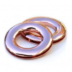 Tasche Nepal: Ringe zum Einschrauben, 2,3 cm, kupfer