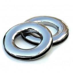 Tasche Nepal: Ringe zum Einschrauben, 2,3 cm, silber