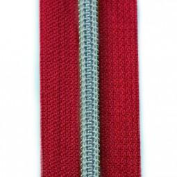 Reißverschluss metallisiert rot