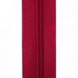 schmale Reißverschlussmeterware rot