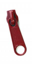 Schieber für schmale Reißverschlussmeterware - rot