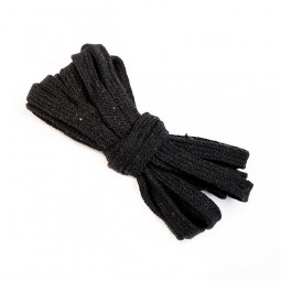 3 m flache Kordel, 1 cm breit, schwarz