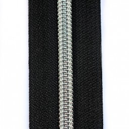 Reißverschluss metallisiert schwarz
