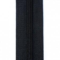 schmale Reißverschlussmeterware schwarz