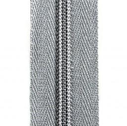 silberner Reißverschluss mit zwei Schiebern