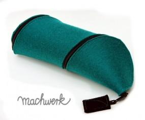 Spiralmäppchen aus Wollfilz- smaragdgrün