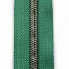 Reißverschluss metallisiert smaragdgrün