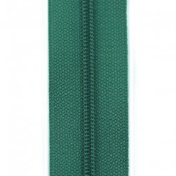 schmale Reißverschlussmeterware smaragd