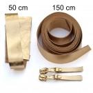2,5 cm breite Lederriemen, gold, Set für die Tasche Duett