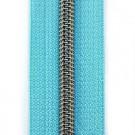 Reißverschluss metallisiert türkis