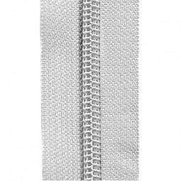 Reißverschluss metallisiert weiß