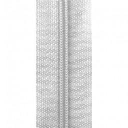 schmale Reißverschlussmeterware weiß